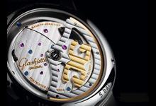 格拉苏蒂机芯倒置大日历腕表